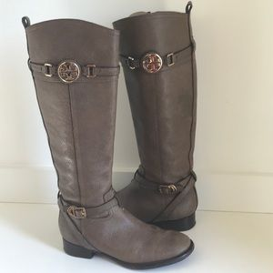 Tory Burch 7 M Brown Leather Knee High Boot